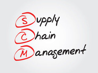 Supply Chain Management (SCM), vector business acronym