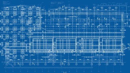 Construction Drawings Looped Backgrounds