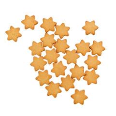 Gingerbread stars over white