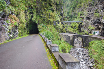 The old road ER101, north coast of Madeira (Portugal)