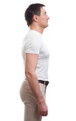 muscular man profile