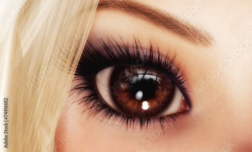 canvas print picture Female Eye