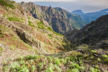 Mountain landscape near Pico do Arieiro, Madeira (Portugal)