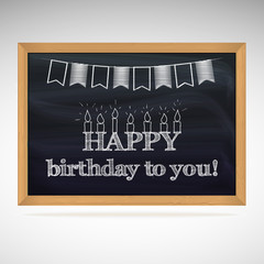 Birthday greetings on schoolboard