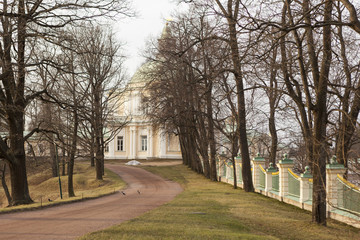 У Большого Меншиковского Дворца. Ораниенбаум.