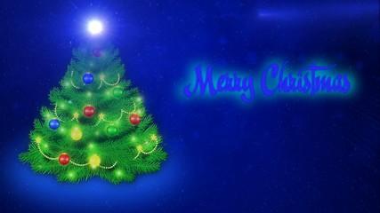 Merry Christmas - blue