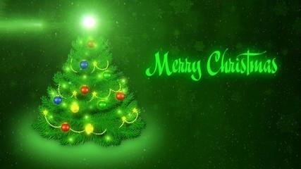 Merry Christmas - green