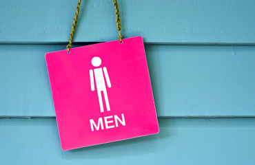 sign man toilet