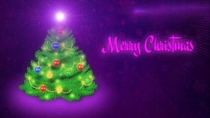Merry Christmas - Purple
