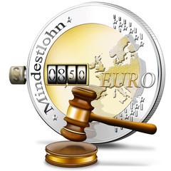 Gesetzlicher Mindestlohn, Euromünze Symbol, freigestellt