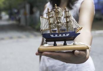 Model of a sailing ship
