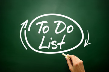 TO DO LIST, business concept on blackboard