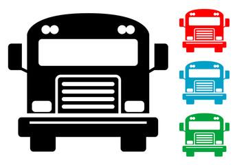 Pictograma autobus con varios colores