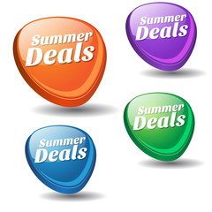 Summer Deals Colorful Vector Icon Design