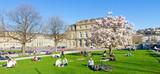 Schlosspark Stuttgart na wiosnę