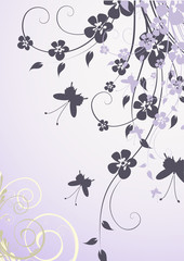 riccio foglie viola