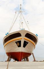 Ship on the coast