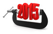 2015 in clamp (clipping path included)