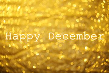 Happy December, greeting card