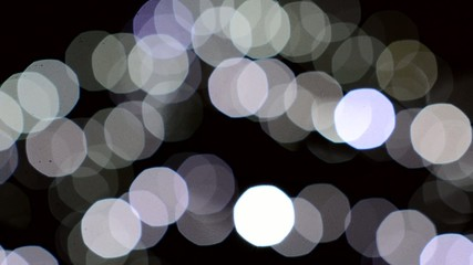 background - christmas lights - night -blurred