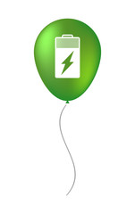Balloon icon with a battery