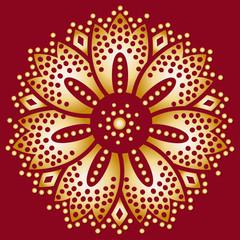 motif de rosace en or