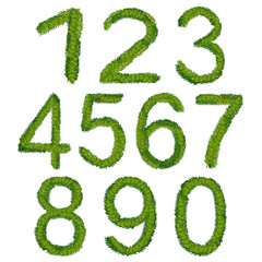 Christmas numbers, vector illustration