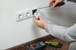 Leinwanddruck Bild - Electrical installation