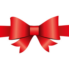 Red ribbon isolated on white background, vector
