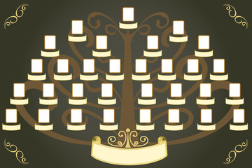 Vector family tree for album