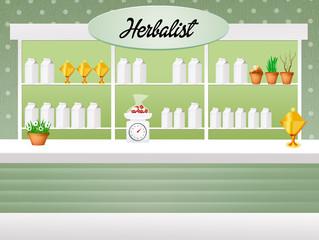 illustration of herbalist