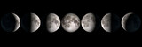 Moon phases collage, elements of this image are provided by NASA - Fine Art prints