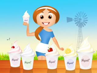 selling yogurt