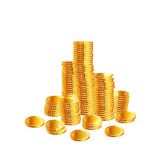 Stacks of gold coins