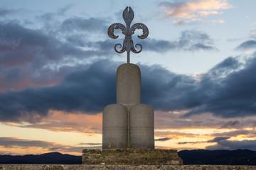 Simbolo di Gubbio al tramonto