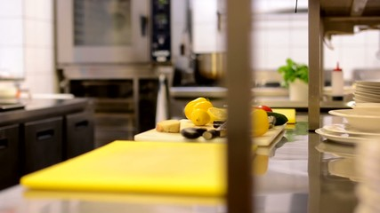 empty kitchen in restaurant