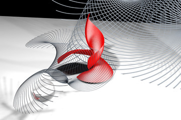 abstract geometry in red gray and black colors