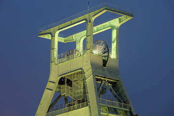 Förderturm Ruhrbiet  Nacht