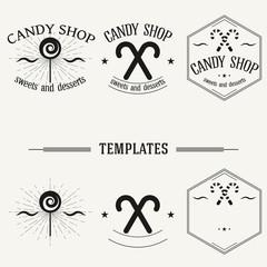 Vintage insignias and logotypes set.