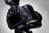 DSLR camera on tripod