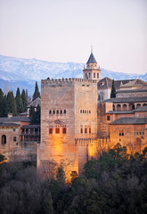 Alhambra palace, Granada, Comares tower, Spain