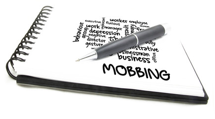 Mobbing concept word cloud background