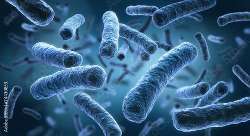 Leinwanddruck Bild Legionellen 2