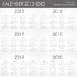 Kalender 2015-2020 Jahresplaner Jahreskalender Taschenkalender - 74431048