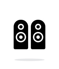 Two audio speakersicon on white background.