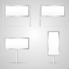 Set of blank City Light illustrations