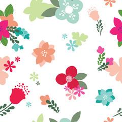 Vintage Floral Seamless Pattern - Vector