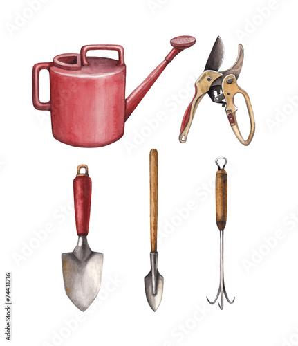 Garden tools illustration - 74431216