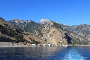 Agia Roumeli, Crete. Greece destination.