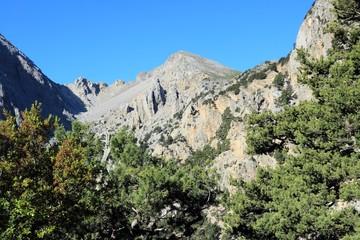 Lefka Ori mountains in Crete, Greece